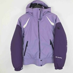 Columbia Kids Jacket Youth 14/16 Purple Zip Up Poc